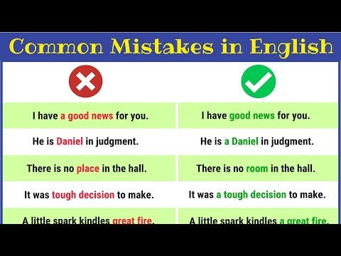 50 of the Most Common Grammatical Errors We All Need to Stop Making | English Grammar Lesson