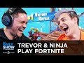 Gambar cover Trevor & Pro Gamer Ninja Play Fortnite on Mixer   The Daily Show