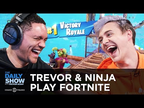 Trevor & Pro Gamer Ninja Play Fortnite On Mixer   The Daily Show
