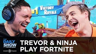 Trevor & Pro Gamer Ninja Play Fortnite on Mixer | The Daily Show