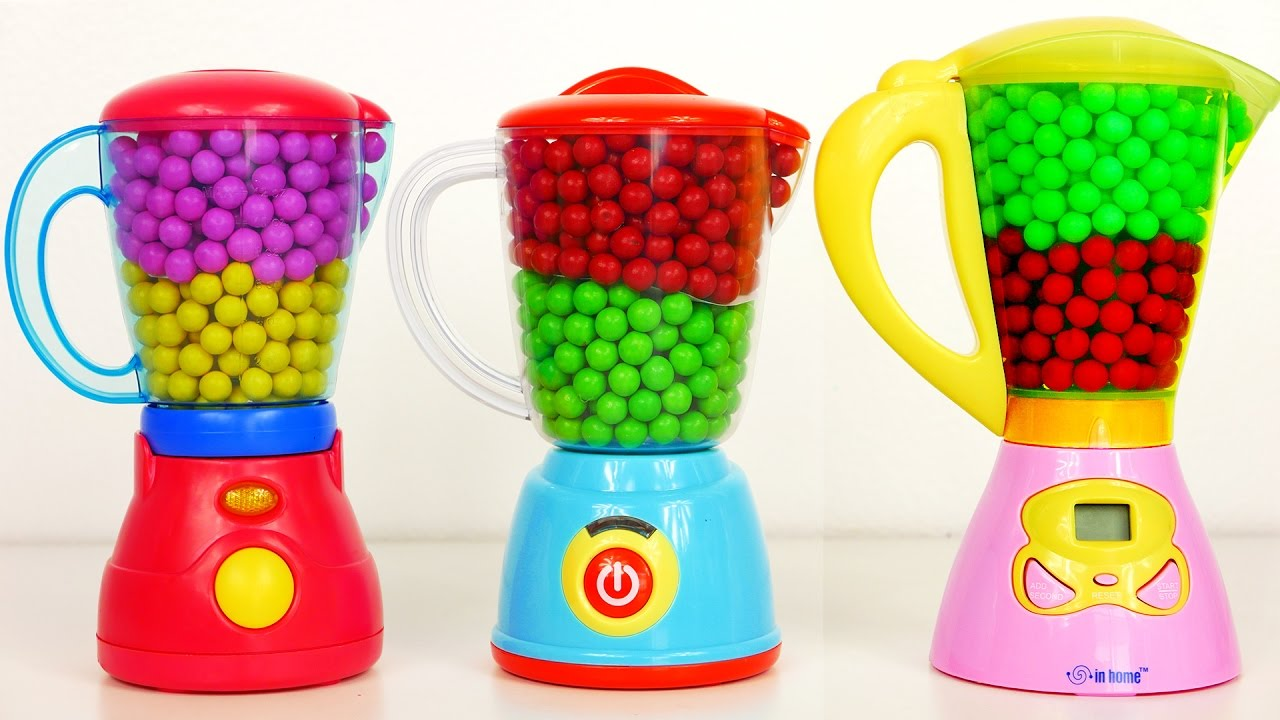 Kitchen Blenders Filled With Candy And Surprise Toys For