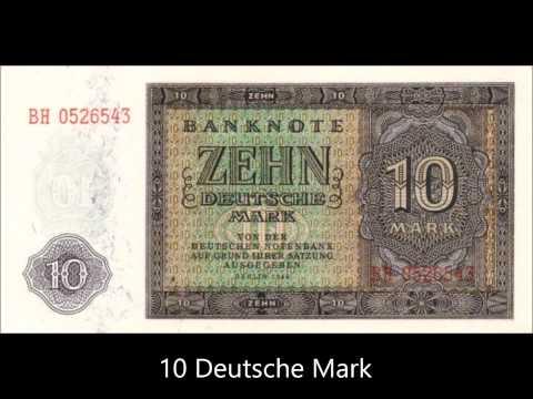 BANKNOTES GERMAN DEMOCRATIC REPUBLIC 1948 ISSUE