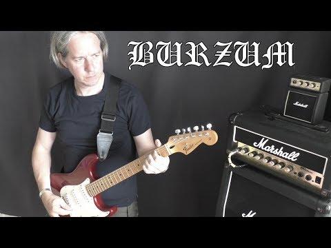 Burzum - Black Spell Of Destruction - Guitar Cover