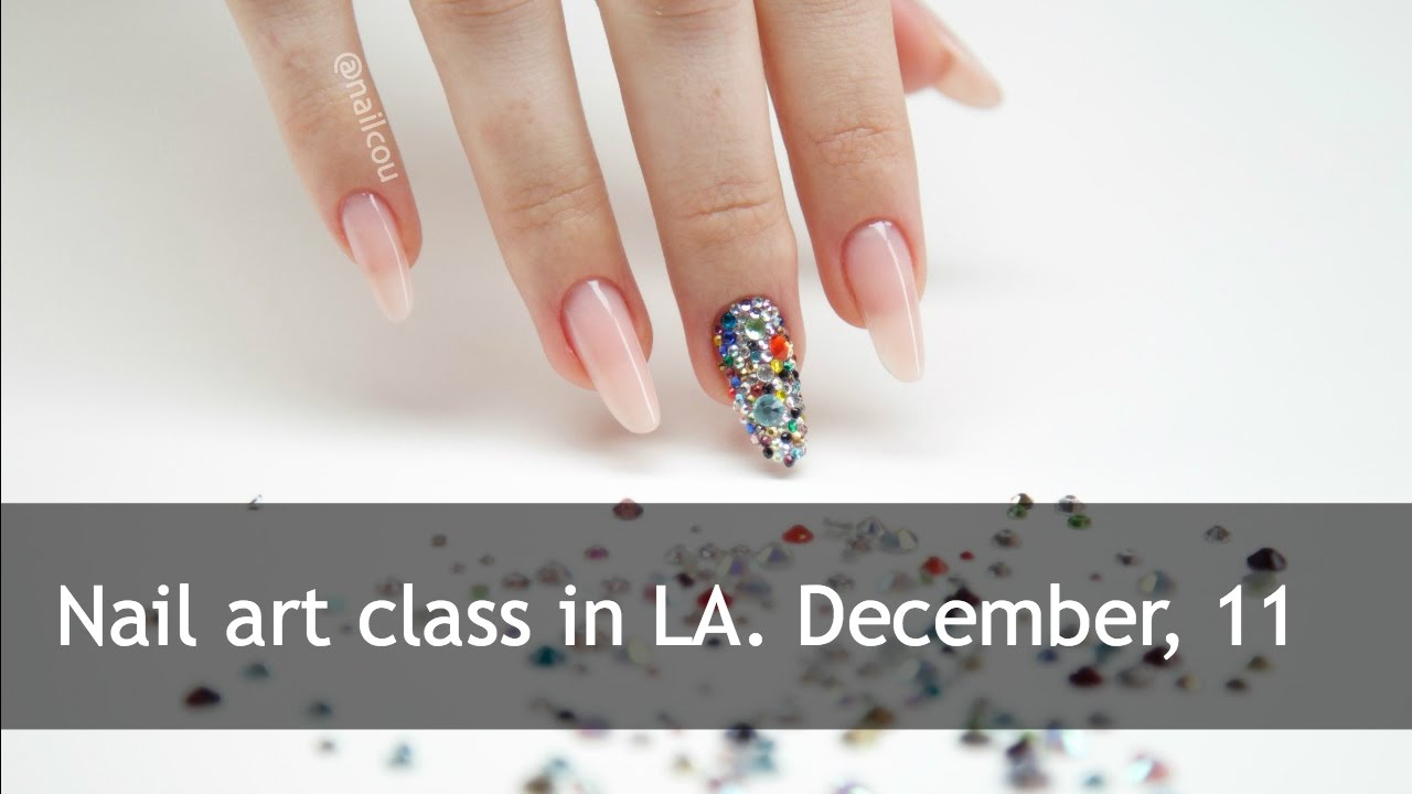 Nail art class in Los Angeles by Anastasia Luksha || nailcou - YouTube