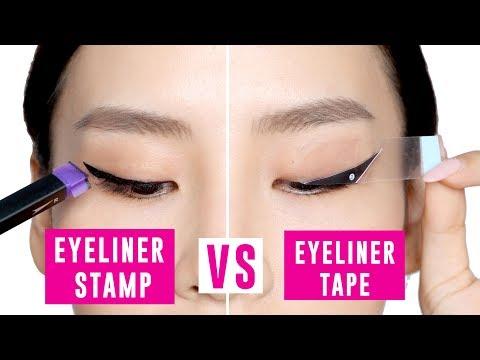 Eyeliner Tape Vs Eyeliner Stamp  Tina Tries It
