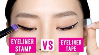 Eyeliner Tape Vs Eyeliner Stamp - Tina Tries It