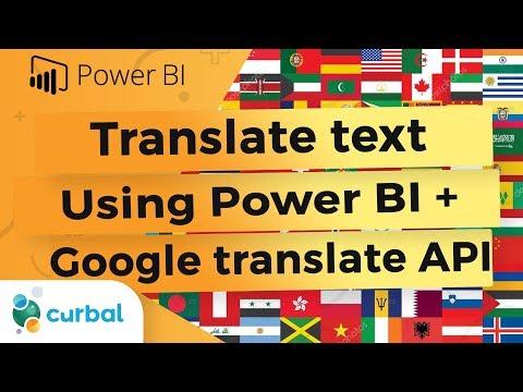 Translate YouTube Subtitles Using Power BI And Google Translate