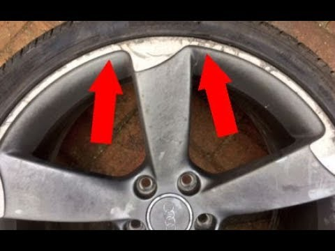 how to repair curb rash on alloy wheel rim youtube. Black Bedroom Furniture Sets. Home Design Ideas