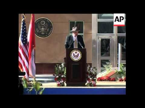 Opening of new US embassy in Baghdad, itw with US ambassador