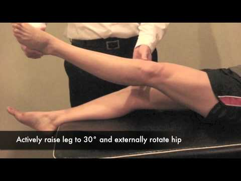 Resisted Straight Leg Raise Test in External Rotation (CR)