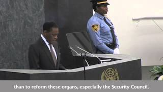 President Obiang Calls for U.N. Security Council Reform