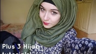 Repeat youtube video HK Scarves review+ 3HIJAB TUTORIALS !!