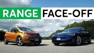 Electric Car Range Face-Off:Chevy Bolt vs. Tesla Model S 75D | Consumer Reports