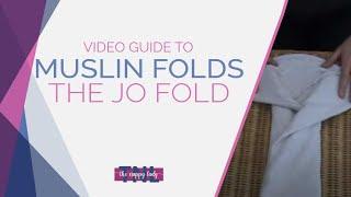 Folding a Muslin Newborn Nappy. Jo Fold by The Nappy Lady