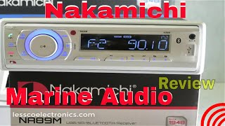 Nakamichi Bluetooth USB/SD Marine Receiver with Speaker Kit Combo