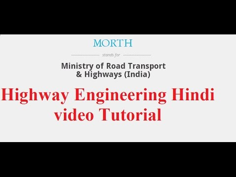 What is MORTH || Ministry of Road Transport and Highways || Highway Engineering Hindi videos
