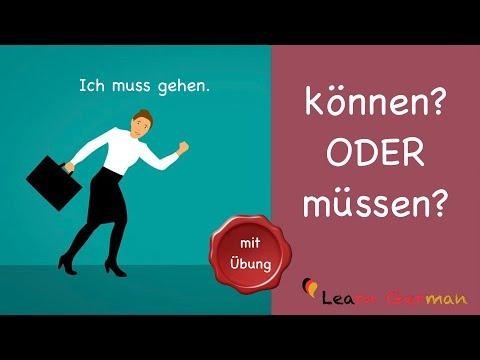 Learn German | German Grammar | können oder müssen | A1 | A2