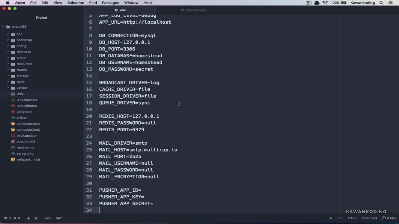 Error Error di Laravel - 01 Env File Missing