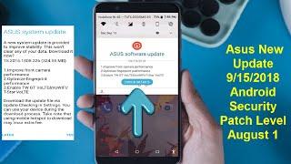 New Software Update of Asus Zenfone Max Pro M1 09/15/2018