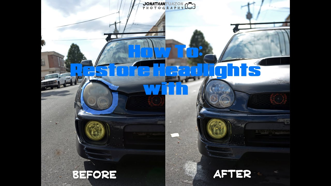 Meguiars Headlight Restoration DIY Subaru WRX JDM   YouTube