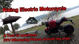 Riding Electric Motorcycle in Freezing weather to FPV Whooping Places