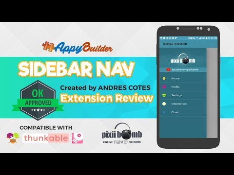 AppyBuilder Extension Review: Sidebar Navigation by Andres Cotes
