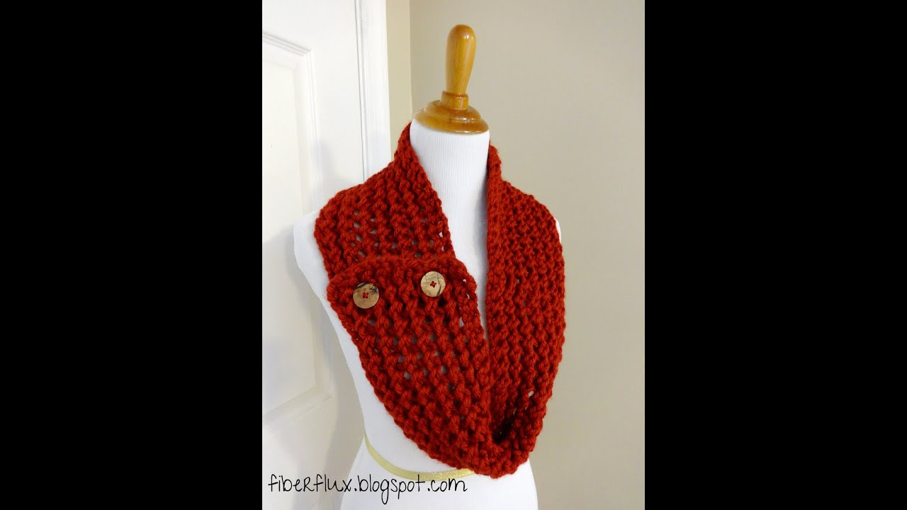 Episode 30 How To Knit The Cinnabar Button Scarf Youtube
