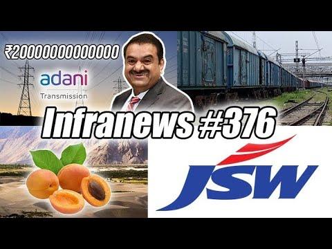 Infranews #376-Adani ₹2 Trillion Cap, Ladakh Exports to Dubai, Reliance Pharma Park,PLI Hydrogen