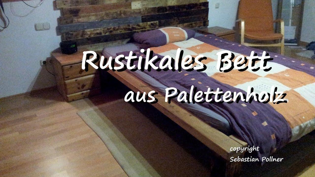 Anleitung DIY rustikales Bett aus Paletten - YouTube