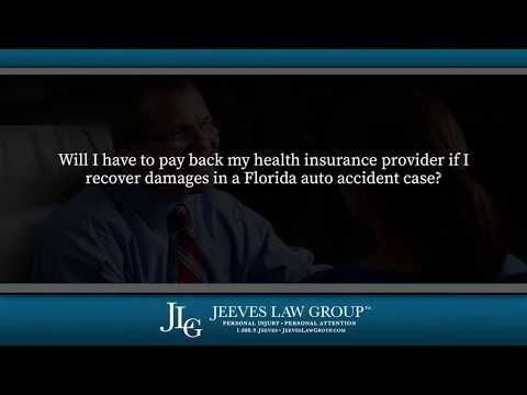 Will I have to pay back my health insurance provider if I recover damages in an auto accident?