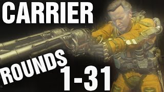 "Exo Zombies CARRIER Rounds 1-31 Gameplay Walkthrough ""Advanced Warfare"" DLC Supremacy"