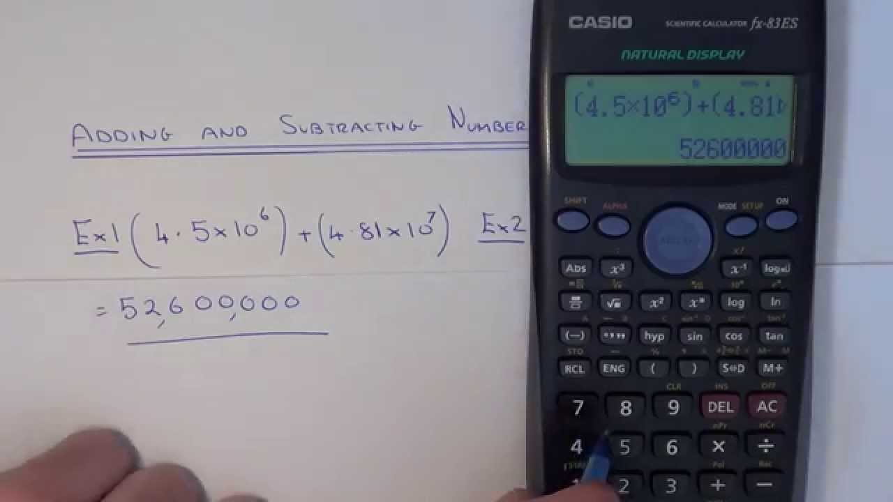 How to add and subtract standard index form numbers on a how to add and subtract standard index form numbers on a calculator falaconquin