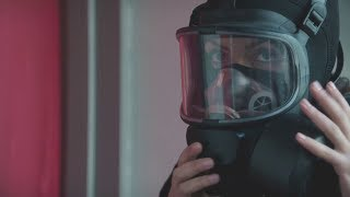 Woman with mask AND gas mask VS terrorists [HD]
