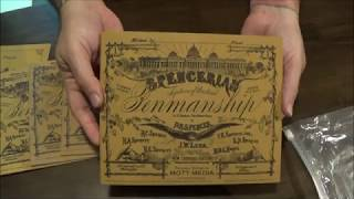 Spencerian writing books, unboxing