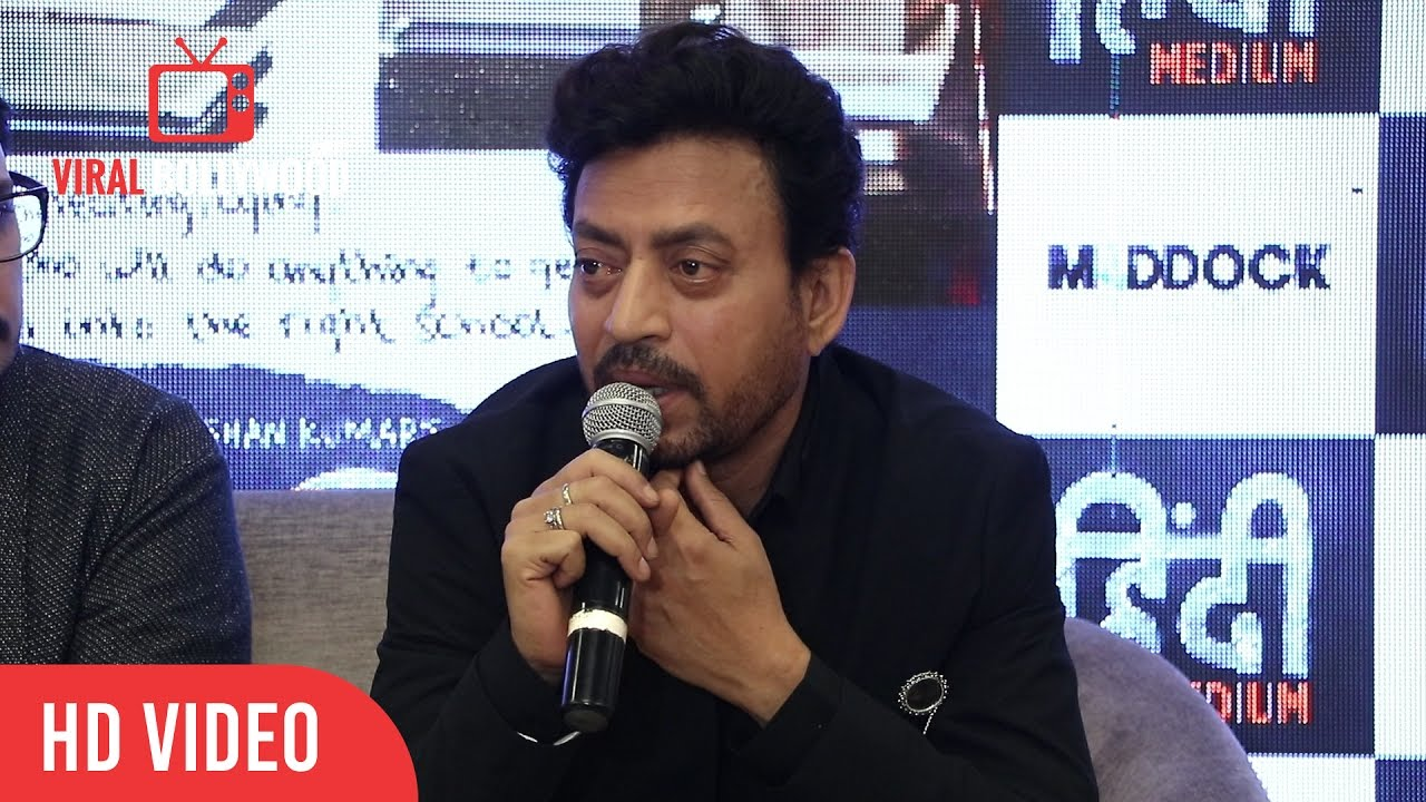 Irrfan Khan Full Speech At Hindi Medium Trailer Viralbollywood