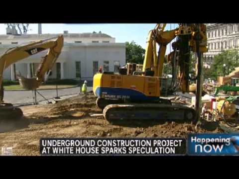 Construction of Obama's White House underground bunker syste