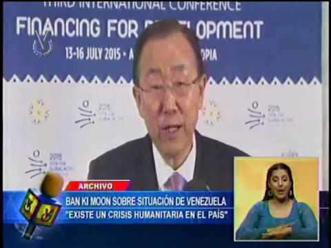 "Ban Ki-moon aseguró que en Venezuela hay ""crisis humanitaria"""