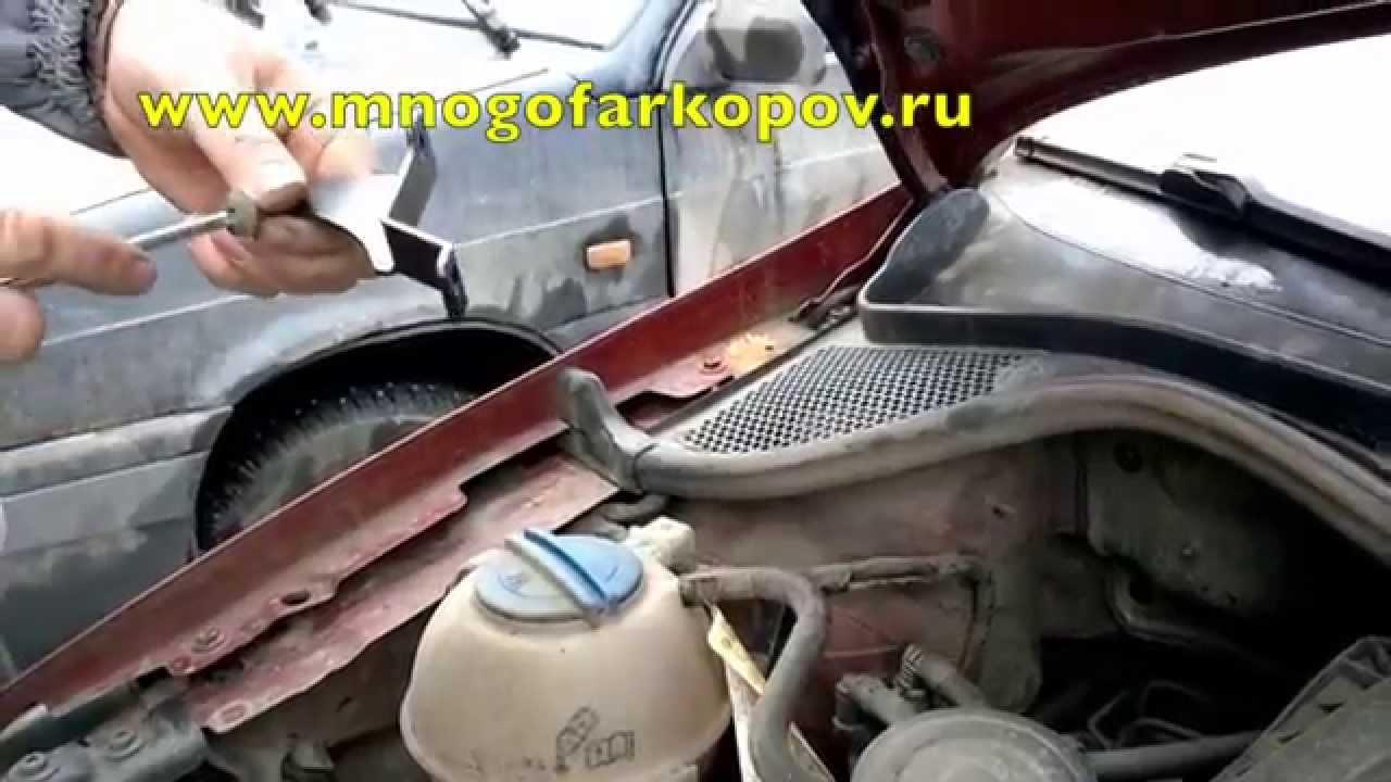 Амортизатор капота на Volkswagen Polo KU-VW-PL00-00 (обзор,установка)