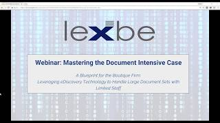 Mastering the Document Intensive Case  A Blueprint for the Boutique Law Firm