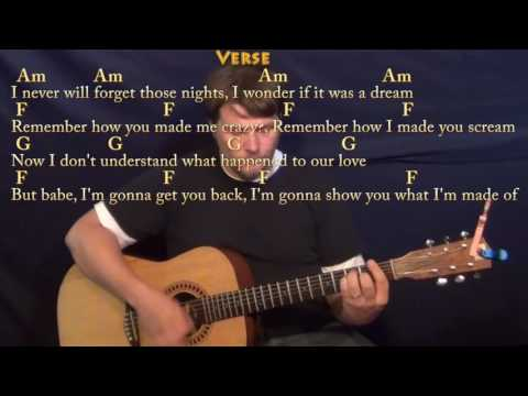 Boys of Summer - Guitar Lesson Chord Chart in Am with Chords/Lyrics