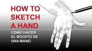 How to sketch a hand / Como hacer el boceto de una mano.