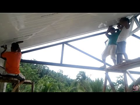 Building a house in Southern Leyte Philippines part 21. Building using insulated roof panels 2