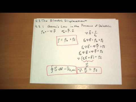 4.3.1 Gauss's Law in the Presence of Dielectrics