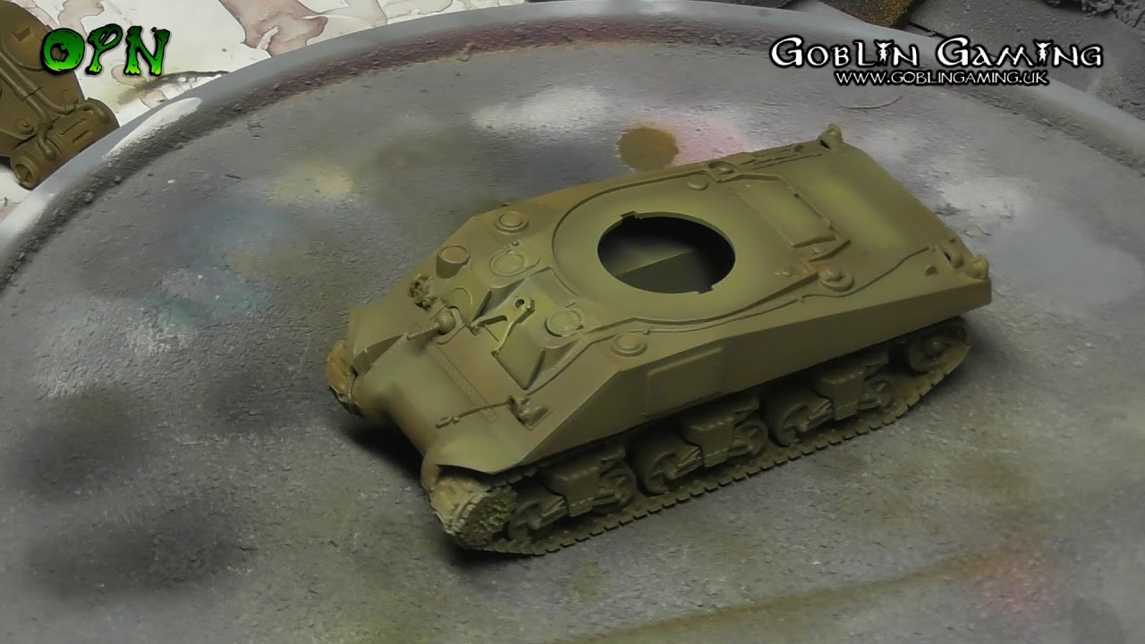 How to paint a Sherman Tank