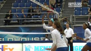 Memphis Volleyball: Lady Tigers top Tulsa in a 5 set come frome behind victory