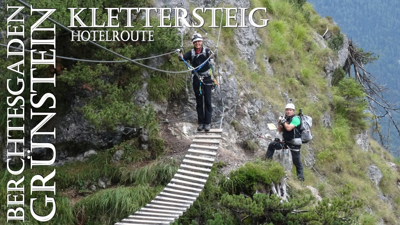 Klettersteig Grünstein : Grünstein klettersteig hotelroute youtube