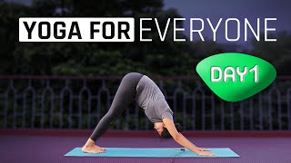 Day 1 of 10 days Daily Yoga Routine for Beginners (Follow Along) | Yoga for Beginners screenshot 2