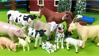 Lots of Toys Farm Animals for Kids - Baby Find Mom Video - Learn Animals Names