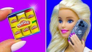 Barbie Doll Hacks. DIY Miniature Barbie Crafts: play doh, cake, iphone 11