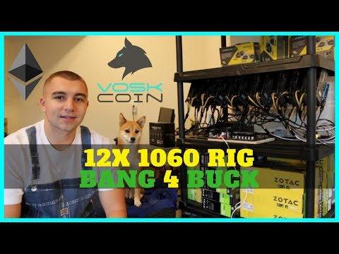 Best Bang 4 Buck Mining Rig - How To Build 12x Card 1060 ETH GPU Miner